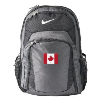 La bandera Nike de Canadá hace excursionismo Mochila