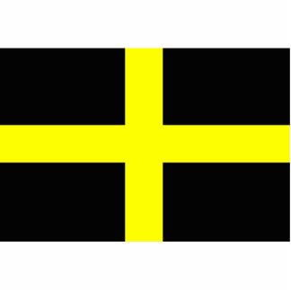 La bandera País de Gales Galés de St David Fotoescultura Vertical