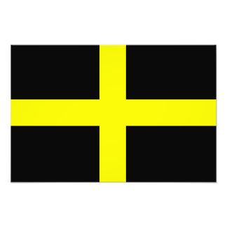 La bandera País de Gales Galés de St David Fotografía