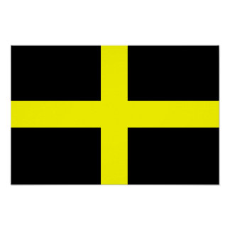La bandera País de Gales Galés de St David Póster