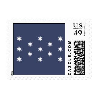 La bandera personal de George Washington Sellos