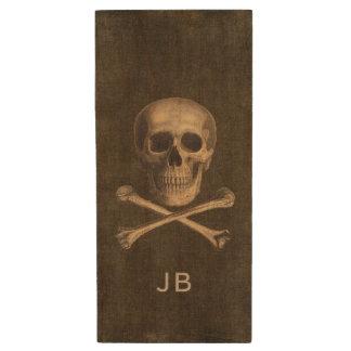 La bandera pirata del vintage personalizó memoria memoria USB 2.0 de madera