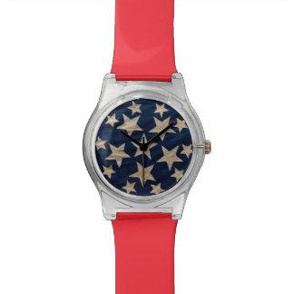 La bandera protagoniza el azul blanco rojo patriót relojes