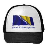 La bandera que agita de Bosnia y Herzegovina nombr Gorra