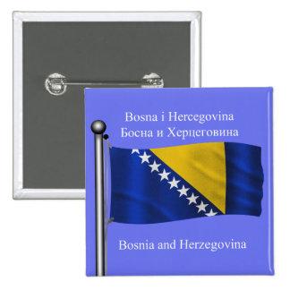 La bandera que agita de Bosnia y Herzegovina Pin