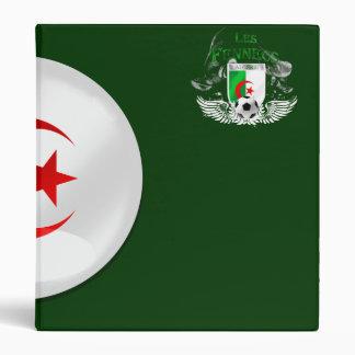 """La bandera redonda de Argelia con cromo tiene Carpeta 1"""""""