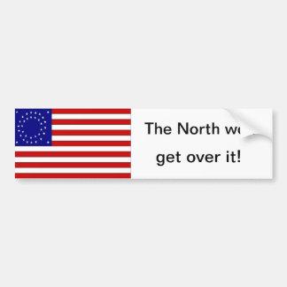La bandera redonda ganada del norte de la estrella pegatina para auto