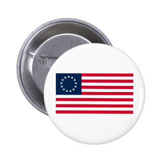La bandera revolucionaria de Betsy Ross de la guer Pin Redondo 5 Cm