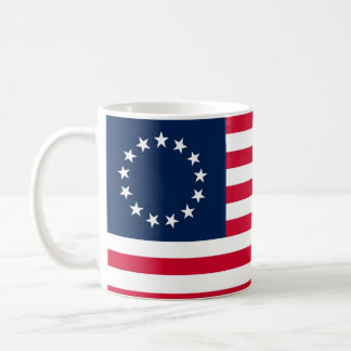 La bandera revolucionaria de Betsy Ross de la guer Taza De Café