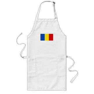La bandera rumana delantal largo