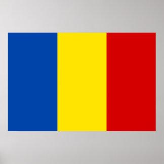 La bandera rumana posters
