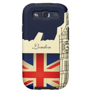 La bandera Samsung de Big Ben Union Jack de la ciu Samsung Galaxy S3 Carcasas