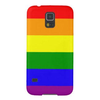 La bandera Samsung del arco iris encajona Fundas Para Galaxy S5