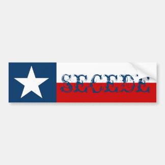 La bandera solitaria del estado de la estrella de etiqueta de parachoque