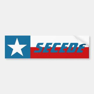 La bandera solitaria del estado de la estrella de  pegatina para auto