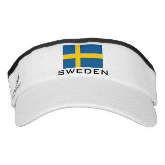 La bandera sueca se divierte el gorra del visera