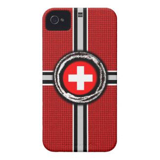 La bandera suiza graba en relieve la caja roja de iPhone 4 cárcasa