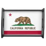 La bandera Tray Drapeau de la Californie de Califo Bandejas