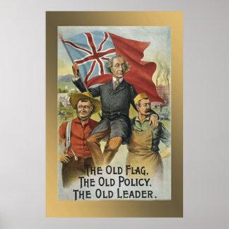 La bandera vieja - la vieja política - el viejo l impresiones