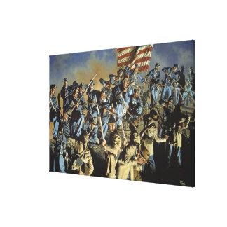 La bandera vieja nunca tocó la impresión de tierra impresiones en lona