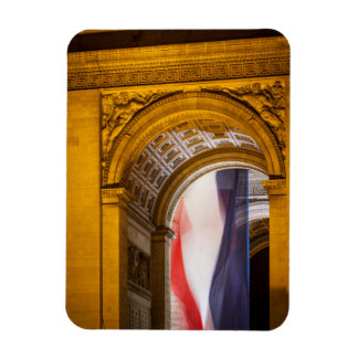 La bandera vuela dentro del Arco del Triunfo, Rectangle Magnet
