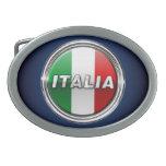 La Bandiera - la bandera italiana Hebilla De Cinturón Oval