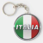 La Bandiera - la bandera italiana Llavero Redondo Tipo Pin