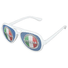 La Bandiera - The Italian Flag Aviator Sunglasses