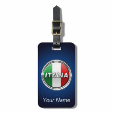 La Bandiera - The Italian Flag Bag Tag