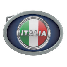 La Bandiera - The Italian Flag Belt Buckle