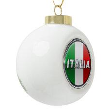 La Bandiera - The Italian Flag Ceramic Ball Christmas Ornament