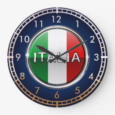 La Bandiera - The Italian Flag Large Clock
