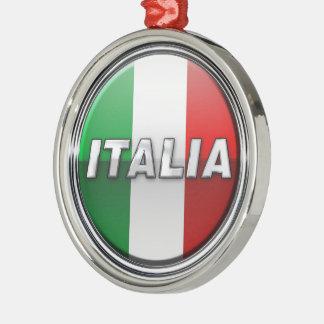 La Bandiera - The Italian Flag Metal Ornament