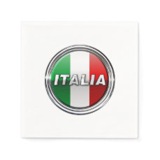 La Bandiera - The Italian Flag Napkin