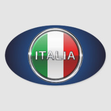 La Bandiera - The Italian Flag Oval Sticker