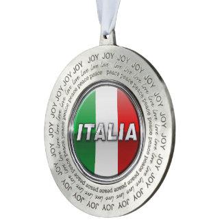 La Bandiera - The Italian Flag Pewter Ornament