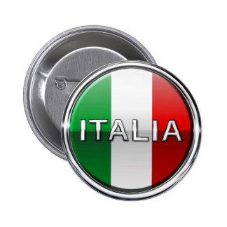 La Bandiera - The Italian Flag Pinback Button