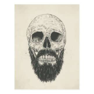 La barba no es muerta postal
