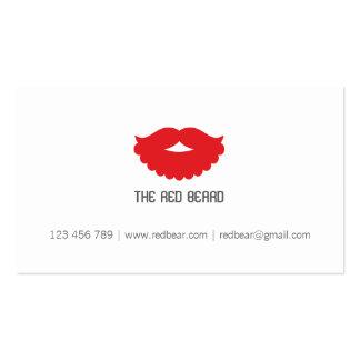 La barba roja tarjetas de visita