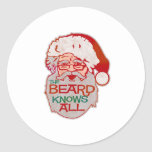 la barba sabe todos pegatina redonda