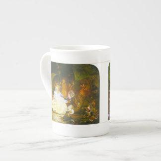 La barca de la hada - taza de la porcelana de hues taza de porcelana