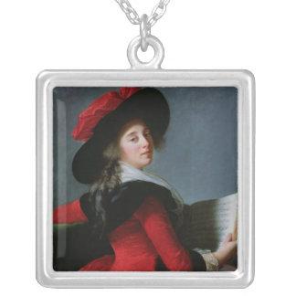 La Baronne de Crussol, 1785 Colgante Cuadrado