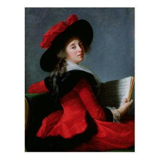 La Baronne de Crussol, 1785 Tarjeta Postal