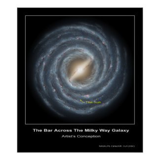 La barra a través de la galaxia de la vía láctea - póster