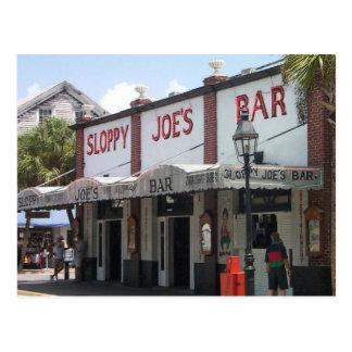 La barra de Joe descuidado Postal