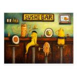 La barra de sushi postales