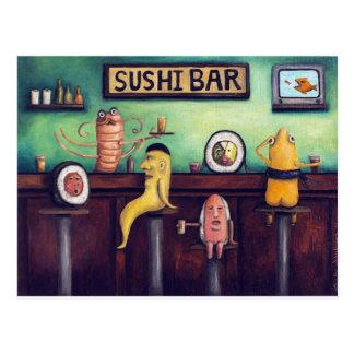 La barra de sushi tarjeta postal