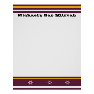 La barra deportiva Mitzvah firma adentro al tabler Posters