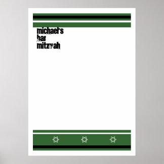 La barra deportiva Mitzvah firma adentro el tabler Poster