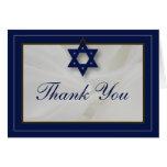 La barra elegante Mitzvah de la tela le agradece Tarjeta Pequeña